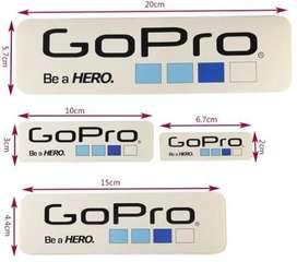 Stickers Gopro Paquete X 20 Und Dif Medidas Calcomanias