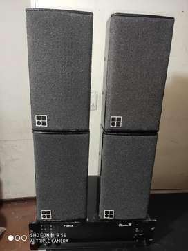 Cabinas d&b audiotechnik e3 , más el amplificador d&b audiotechnik p1200a
