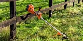 se guadañan y limpian grandes y pequeñas extensiones  de tierra