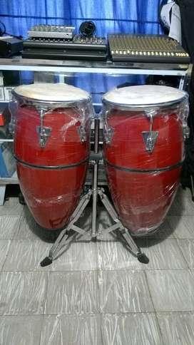 Congas en Fibra Cobra Percusión con aro conform nuevas