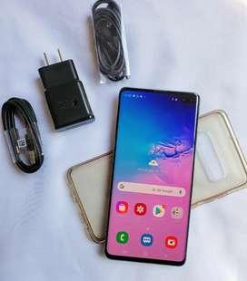 Hermoso Samsung S10 plus 128 GB tapa personalizada.