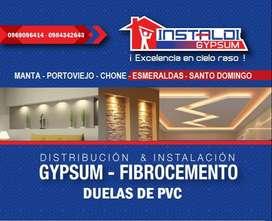 VENTA DE GYPSUM,CIELO RASO, PVC