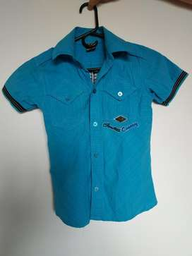 Camisa Azul para Niño Talla 8