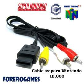 Cable audio y video snes / gamecube / n64