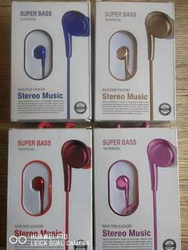 Audífonos  earphone SUPER BASS