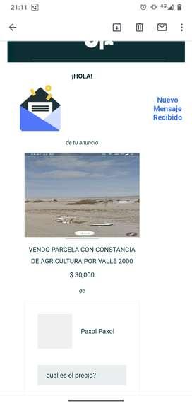 Venta de lote en sector Valle 2000 viñani Gregorio albarracin