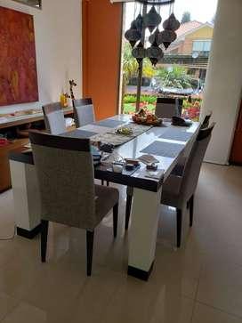Comedor de 8 puestos con 8 sillas