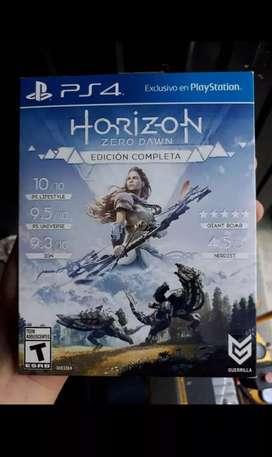 Vendo HORINZON ZERO DAWN EDICION COMPLETA para ps4