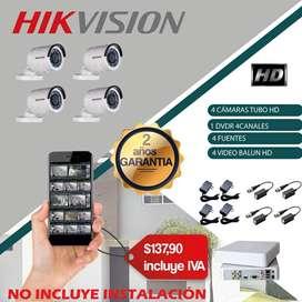 kit cámaras hikvision / camaras de seguridad / dvr / nvr/