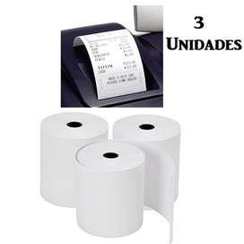 3 Unidades Rollo Papel Termico 57x40mm Recibos Impresora Pos