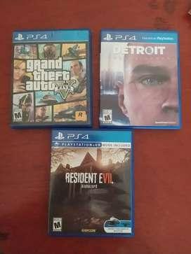 Juegos PS4 y control