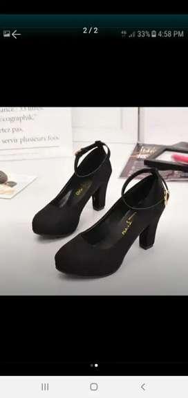 Zapatos gamuza negro