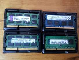 Remate de Memorias RAM DDR3 4Gb, BUS 1333 y 1600, diferentes marcas.