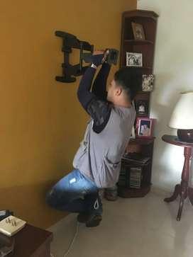 Instalación  de soportes para tv