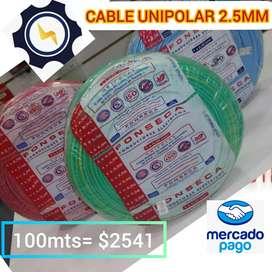 CABLE UNIPOLAR  FONSECA 2.5MM