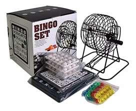 Bingo familia balotera metálica