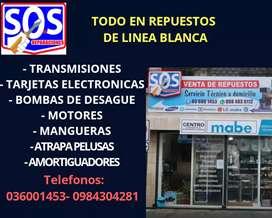 REPUESTOS DE LAVADORAS, REFRIGERADORAS, SECADORAS, CALEFONES ETC.