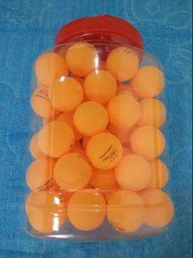 Bolas Pelotas Ping Pong Tenis de Mesa de 40mm. para Entrenamiento color Naranja x 60 Unds