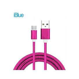 Iblue Cable Usb A Tipo C Celular Laptop Pc Table Datos Otg Rosado