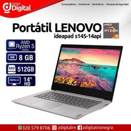 Portátil Lenovo s145 / Ryzen 5 / 8gb / SSD 512