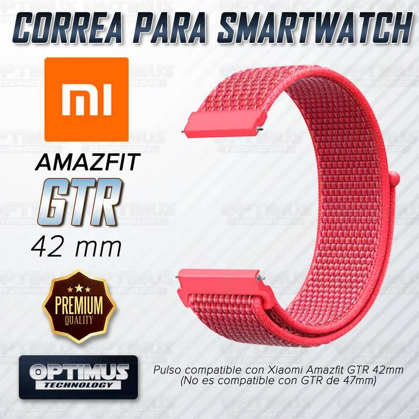 Banda Correa Pulso tipo Velcro Nailon Tela Suave para reloj Smartwatch Xiaomi Amazfit Gtr 42mm