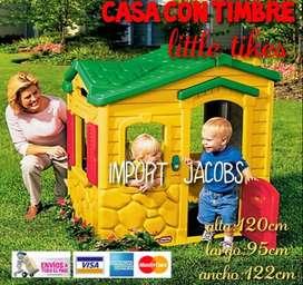 CASA CON TIMBRE LITTLE TIKES NUEVA