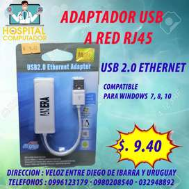 Adaptador de RED Ethernet  USB