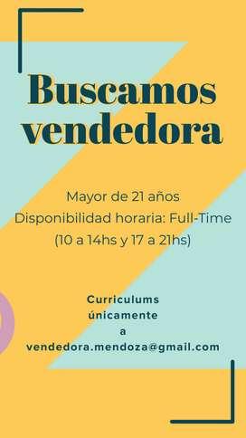Vendedora para ciudad de Mendoza