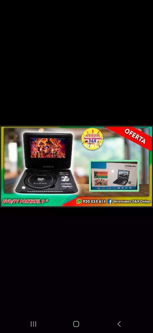 Dvd tv portatil 9 pulgadas 0