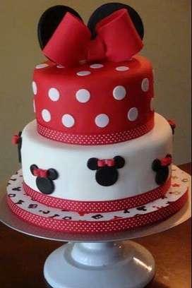 Torta minnie mouse + cupcakes GRATIS