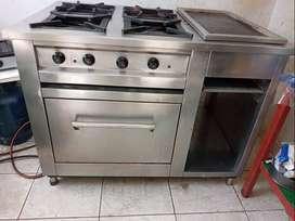 Se vende cocina industrial de acero inoxidable