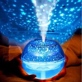 Difusor De Aromas Humidificador Niebla 500ml Proyector De Luces LED