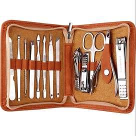 Set Cuidado Personal extractor puntos negros, manicura, pedicura, corta uñas Unisex Deluxe
