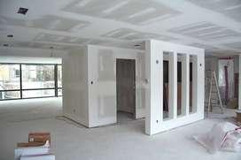 Melamine, drywall, electricista y sistema contra incendio
