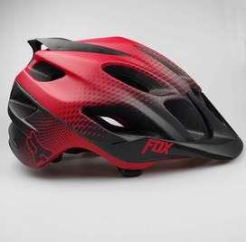 Casco ciclismo mtb fox negro rojo