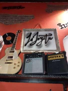 Guitarra electrica les paul crimson