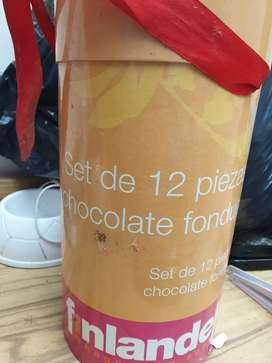 Set de 5 piezas para fondue de chocolate
