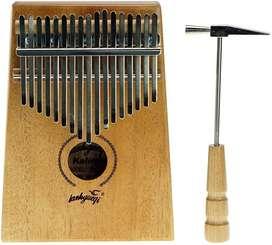 Kalimba Caoba 17 Teclas Piano De Percusion Música Portatil