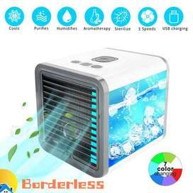 VENTILADOR  MINI ENFRIADOR HUMIDIFICADO+LUZ LED