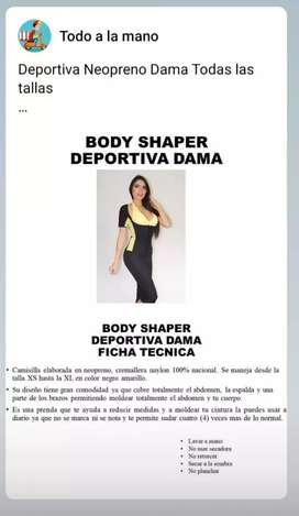 Deportiva Neopreno Dama Todas las tallas  80.000,00 COP  Garantía  Defectos de Fabrica y Transporte - Prenda Intima