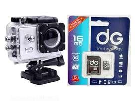 COMBO CAMARA HD SPORTS Y MICROSD 16GB
