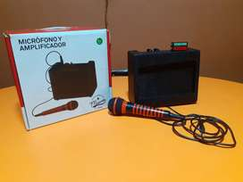 Mini amplificador con microfono Seminuevo en caja (Negociable)