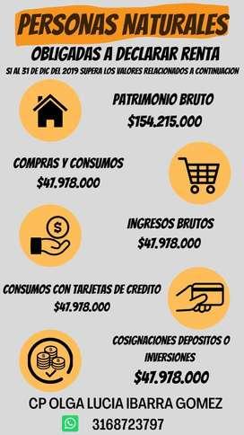 DECLARACIONES DE RENTA - CONTADORA PUBLICA