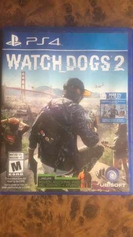 Vendo juego de watch dogs 2 ps4