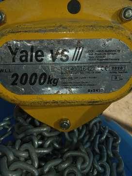 Vendo tecle de cadena de 2 tonelas marca yale
