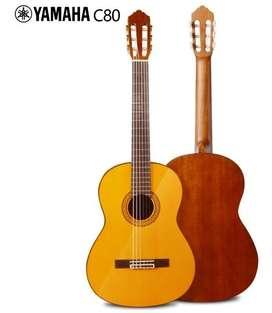 bella guitarra yamaha c80 usada por grandes maestros