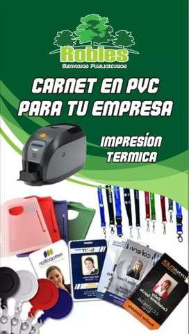 Elaboración de carnets en PVC
