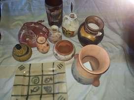 Vasijas tipo precolombino y cerámica pintadas