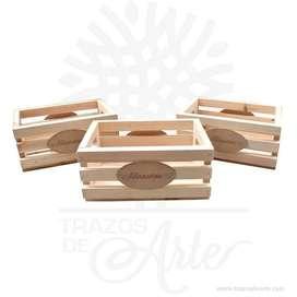 Caja huacal madera personalizado – Precio COP
