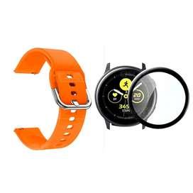 Kit Manilla Correa Manilla Pulso y Vidrio Templado Cerámico Protector de Reloj inteligente Samsung Galaxy Active 44mm